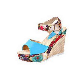 SANDALE - NU-PIEDS la plate-forme des femmes sandales compensées haut feaf8e625735