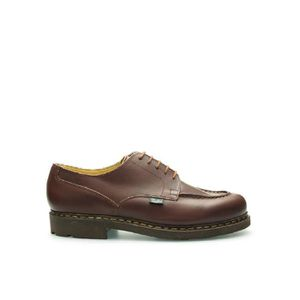 MOCASSIN PARABOOT HOMME 710708BROWN MARRON CUIR CHAUSSURES