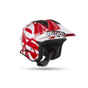 CASQUE MOTO SCOOTER Casque Trial AIROH Trr S Convert Red Gloss-ADULTE