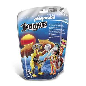 UNIVERS MINIATURE PLAYMOBIL 5462 Dragon de Pierre avec Guerrier