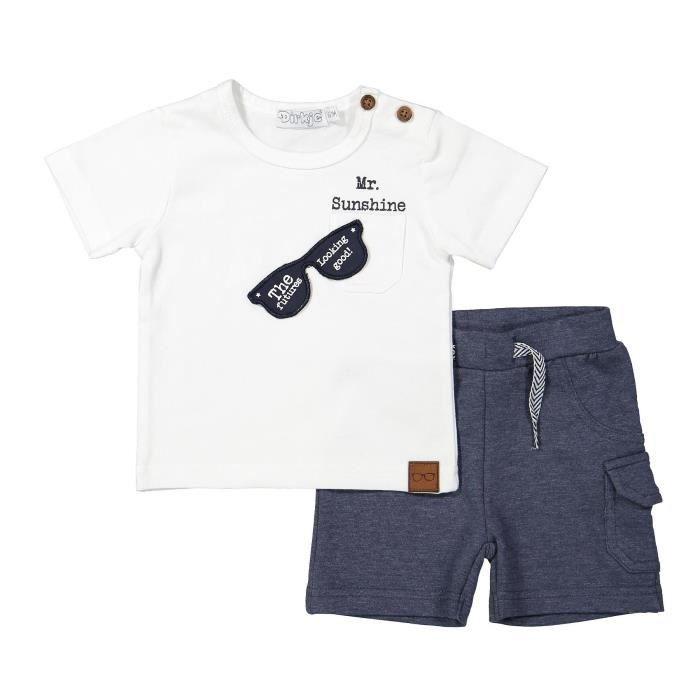 Ensemble de vêtements DIRKJE Ensemble 2 Pièces Tee-Shirt Blanc et Short