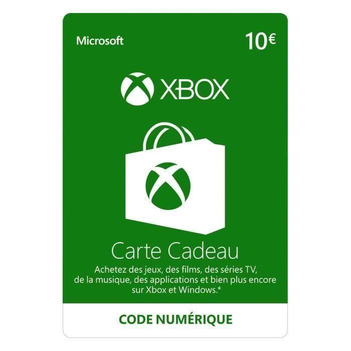 Code Numérique Xbox Live 10€ - Code de Téléchargement