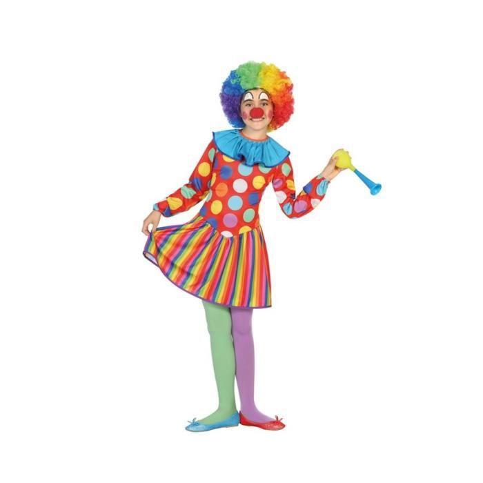 ATOSA Déguisement Femme Clown - Panoplie Enfant