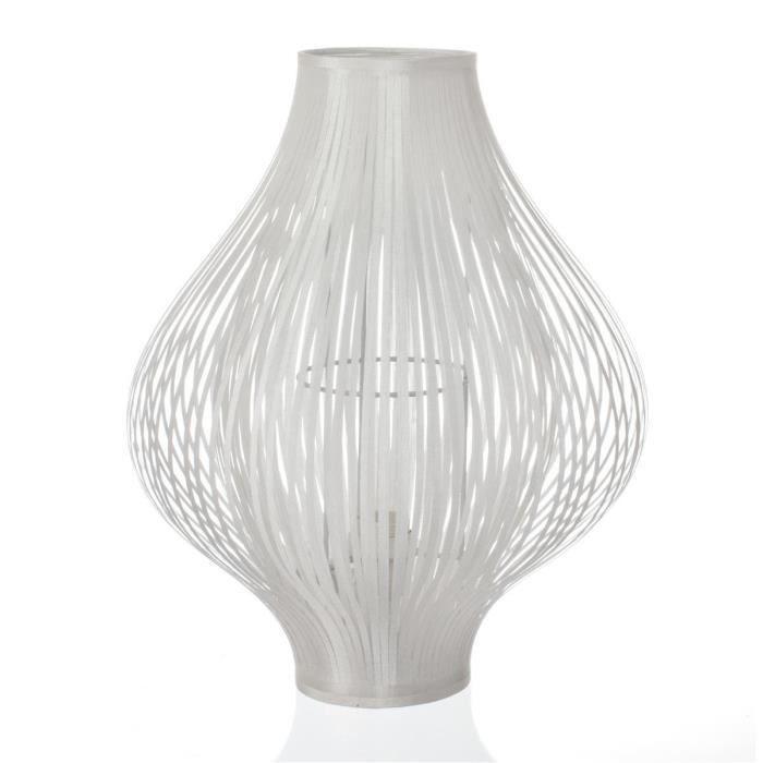 En Lampe Poser 34xh 44cm Pliante À Blancd Polyester zVSMGqUp