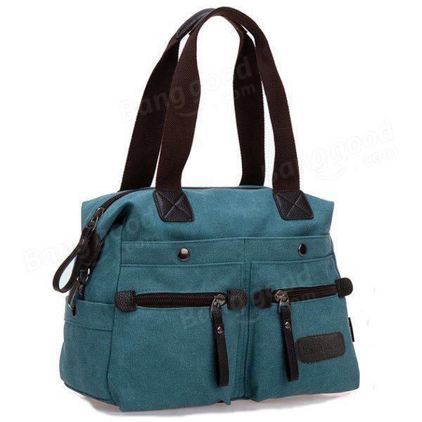 SBBKO1379Ekphero femmes hommes toile de poche multi sacs à main occasionnels oreiller épaule sac bandoulière sacs Bleu