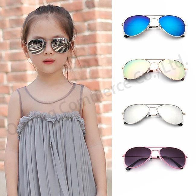 Lunettes de soleil pour enfants M noir black framenoir black frame iroir Objectif Casual Été Mignon Lunettes unisexe Oculos De Sol