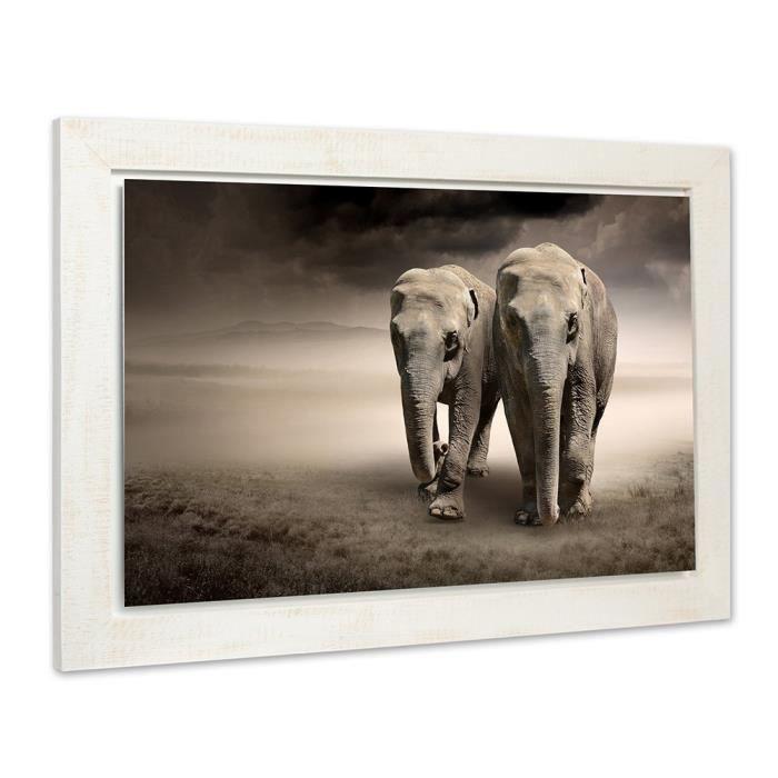 tableau toile tableau image dcoratif mural cadre en bois vinta - Cadre Elephant