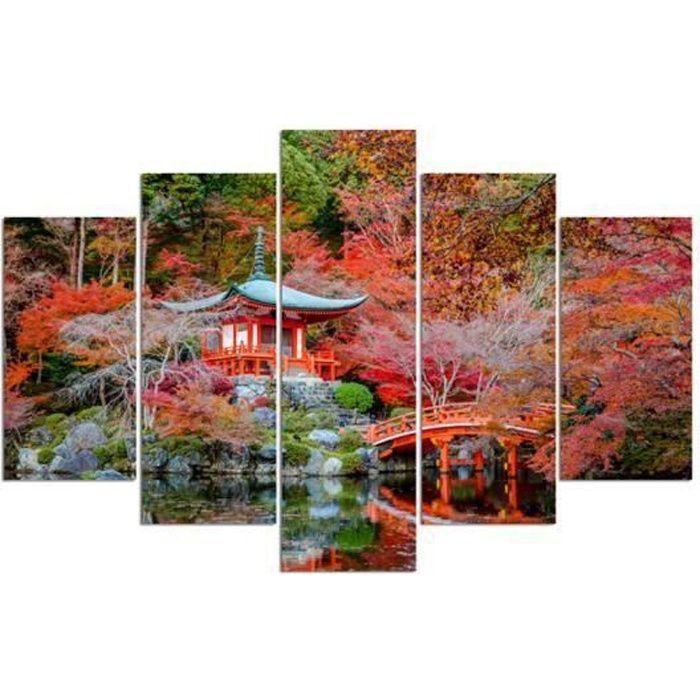 Tableau déco multi panneaux 100x150 JARDIN JAPONAIS - Achat / Vente ...