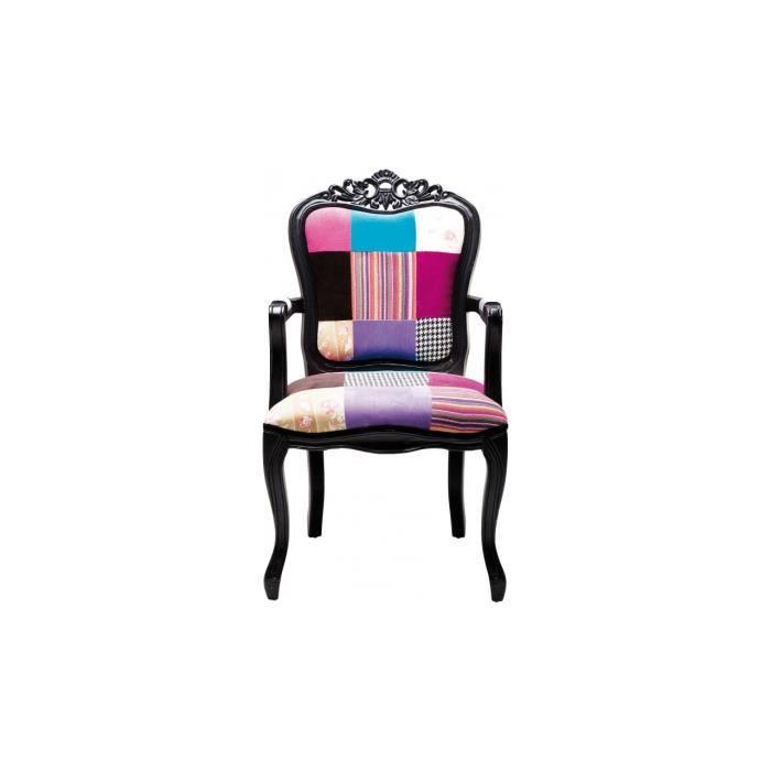 Fauteuil Baroque Et Coloré Elegance Achat Vente Fauteuil Cdiscount - Fauteuils colores