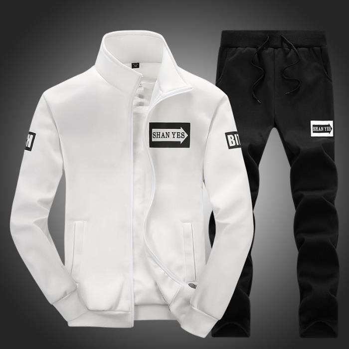 Simple En Coton Veste Survetement Pantalons Pour Pièces Polyester Et Automne Deux Sport Homme Hiver xWCoBrde