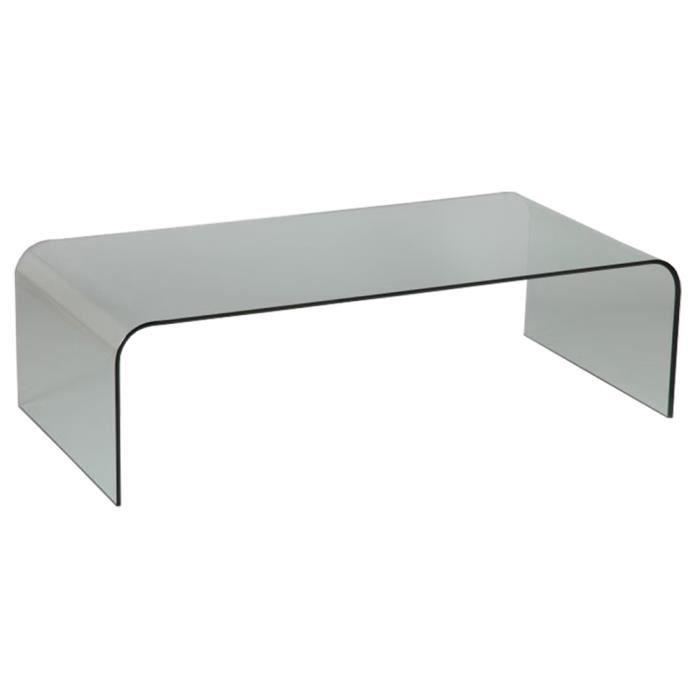 table basse en verre l140 x l 70 x ht40 cm