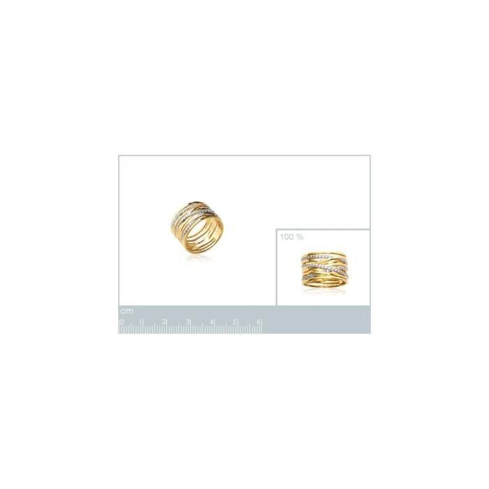 Isady - Lennicka Gold - Bague Femme - Plaqué Or 18K - Oxyde de zirconium