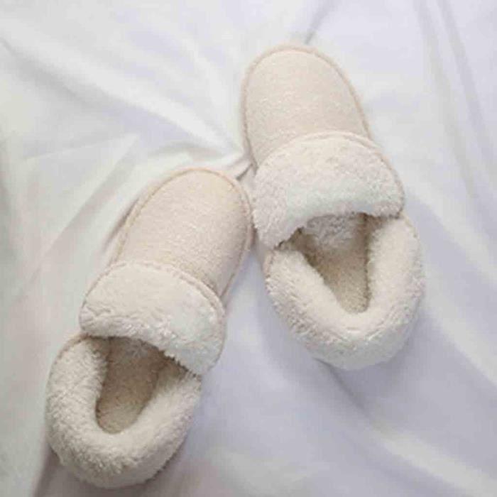 slip Enceintes Pantoufles Pais Femmes Chaussons Hiver Non Coton Fond confor2467 Doux R6wU4