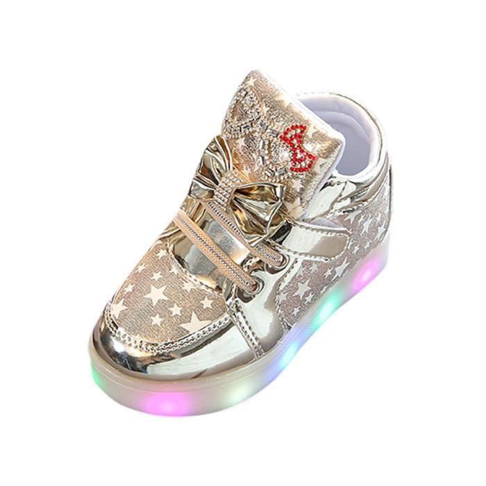 BOTTE Baskets bébé Fashion Sneakers Star lumineux enfant Casual chaussures légères colorées@OrHM