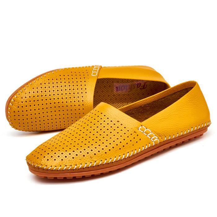 Chaussure Homme En Cuir Véritable Glissement Sur Des Mocassin Confortable Respirant De Marque Classique Chaussures Haut Qualité T2wcvDNZr7