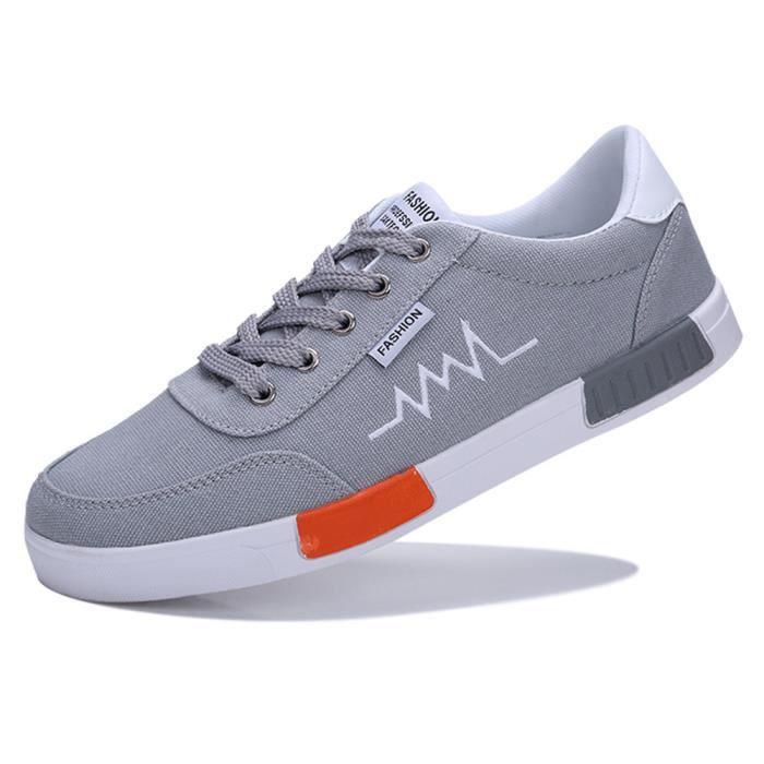 Jusqu'à Dentelle Résistant Chaussures Confortable Gris Rond Hommes Wear Plat Bout Casual Snekaer qZIHgw8