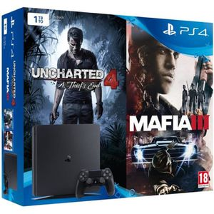 CONSOLE PS4 Nouvelle PS4 Slim 1 To + 2 Jeux : Uncharted 4 : A