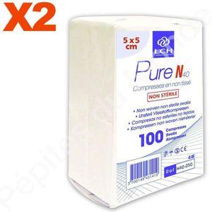 COMPRESSE - COTON Compresses en non tissé Non stériles 40 Grammes 5x
