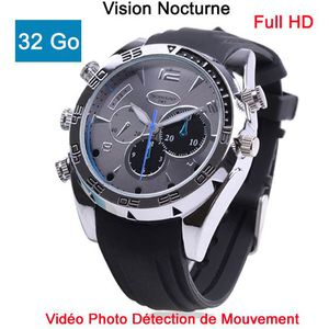 CAMÉRA MINIATURE Montre espion FULL HD 1080P 32Go V Nocturne d. …