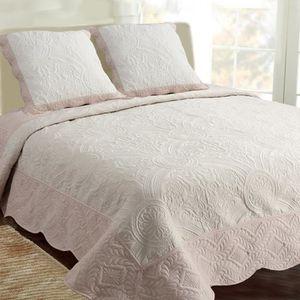 couvre lit boutis 2 taies achat vente couvre lit boutis 2 taies pas cher soldes d s le 10. Black Bedroom Furniture Sets. Home Design Ideas