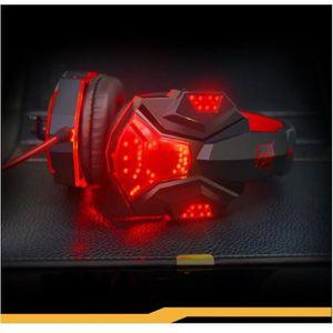 CASQUE - ÉCOUTEURS Casque gamer Hifi avec stéréo Mic et LED pour Jeux