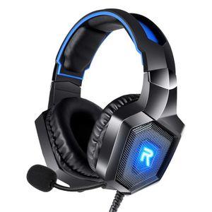CASQUE - ÉCOUTEURS Casque Gaming pour PS4 Casque PC avec LED RGB Resp
