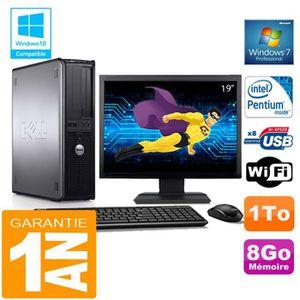 UNITÉ CENTRALE + ÉCRAN PC DELL 780 DT Intel E5300 Ram 8Go Disque 1 To Wif
