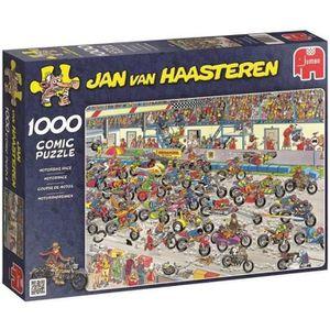 PUZZLE Puzzle 1000 Pièces - COURSE DE MOTOS - Jan van Haa