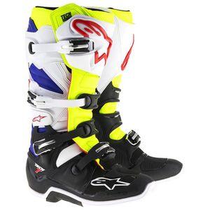 CHAUSSURE - BOTTE Bottes Moto Cross Alpinestars Tech 7 Blanc Jaune F