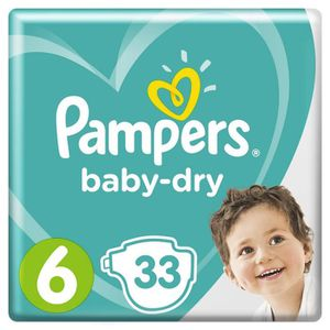 COUCHE Pampers Baby-Dry Taille 6, 13-18 kg, 33 Couches -