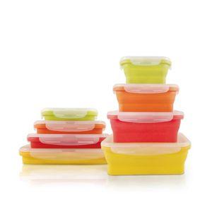 LUNCH BOX - BENTO  JOCCA Lot de 4 boîtes à repas en silicone pliables