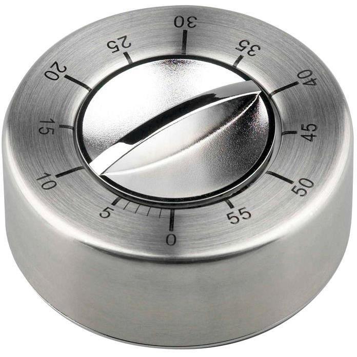 Minuteur mécanique aimanté - inox