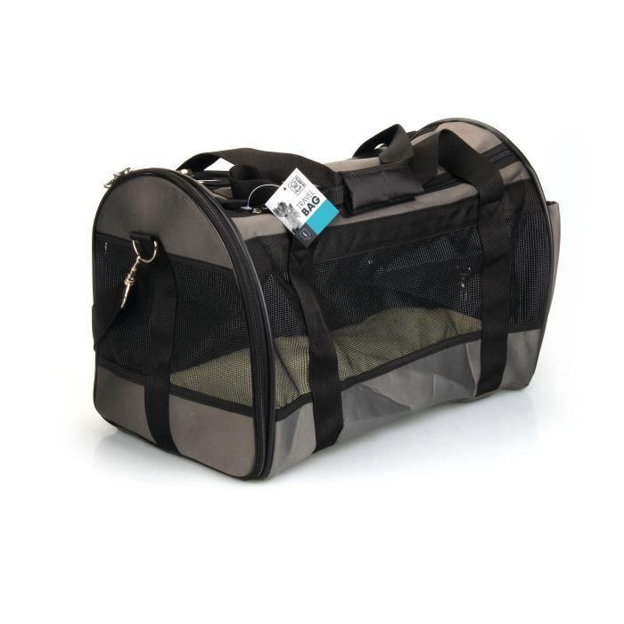 MPETS Sac de transport - Pour chien - L - Gris