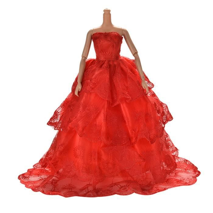 4d0d00e5a968c Jouet enfant fille robe de mariage pour Barbies 11