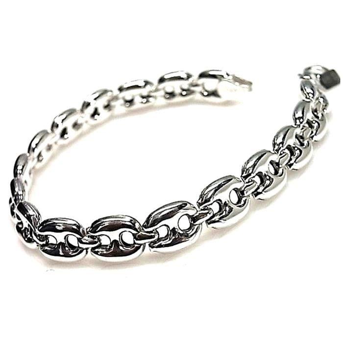Bracelet loi cablabrotes 925m série lisse argent [AB0206]
