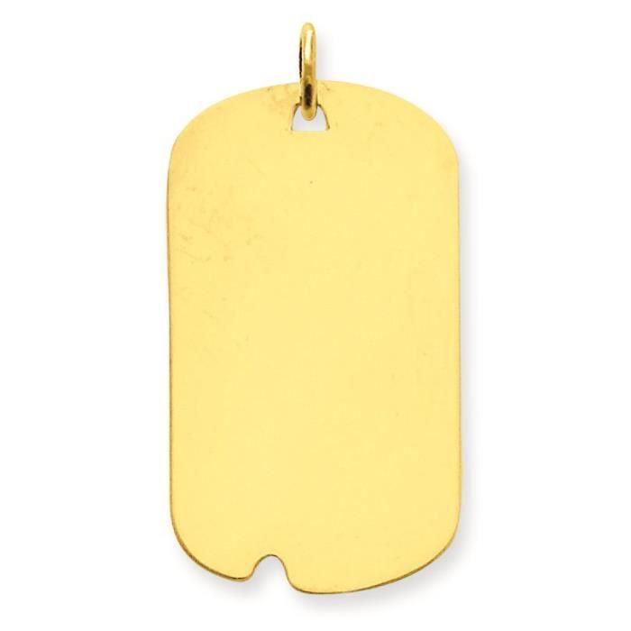 Tirant .013 14 carats-Médaille chien-Engraveable disque charme