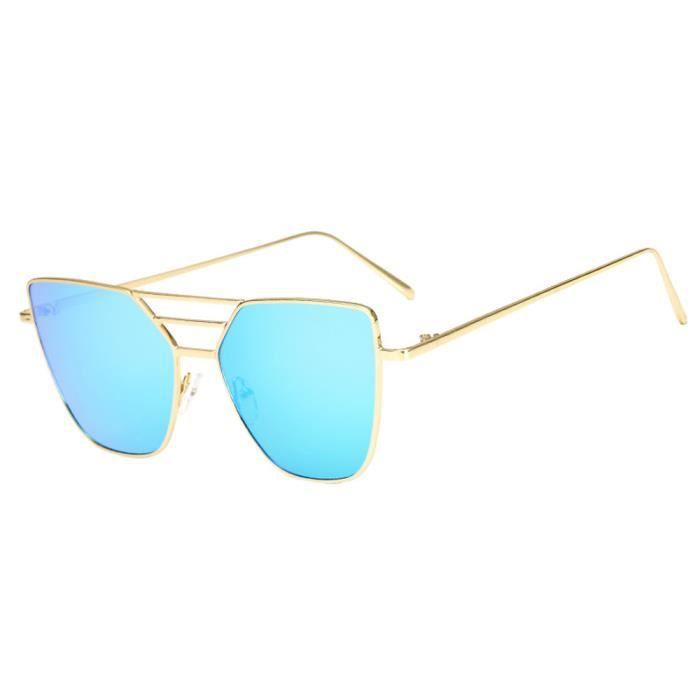 Mode unisexe Vintage Irrégulier lunettes de mode Lunettes de soleil aviateur miroir Y14