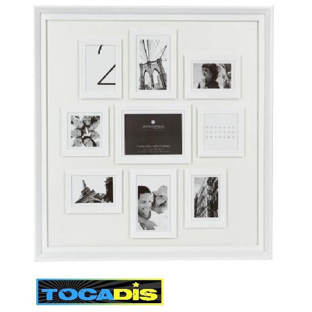 pele mele cadre 9 photos ethan blanc deco tocadis achat vente p le m le photo soldes. Black Bedroom Furniture Sets. Home Design Ideas