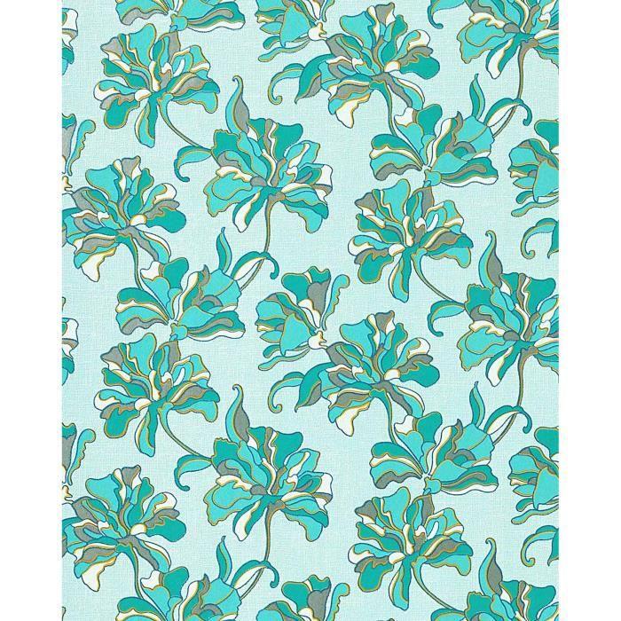 papier peint design r tro motif floral fleurs edem 072 22. Black Bedroom Furniture Sets. Home Design Ideas