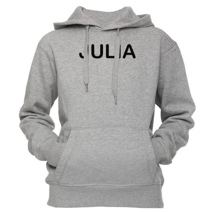 a0dac5f14615 Sweat à capuche - Julia Unisexe Homme Femme Gris Taille S Unisex ...
