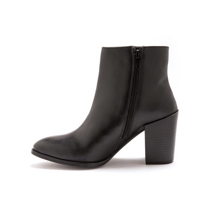 Boots cuir à talon