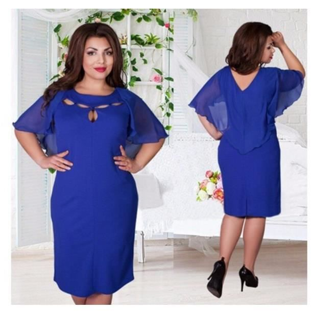 Summer femmes Hollow out Cape robe cocktail party Clubwear Beach Dress