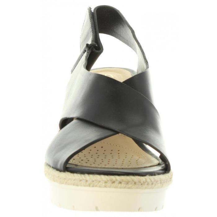 Sandales pour Femme CLARKS 26132131 PALM BLACK LEATHER