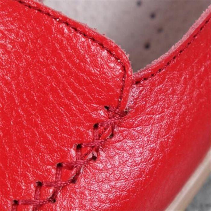 Mocassin Femmes Talon plat Leger Chaussure GD-XZ049Noir36 m2qcG
