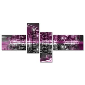 Tableau Déco Design Ville New York - 130x65 cm