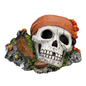 NOBBY Aqua Deco Pirate Skull 145 x 125 x 85mm pour aquarium