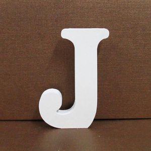 Lettre en bois blanc decoratif achat vente pas cher - Lettre decorative en bois ...