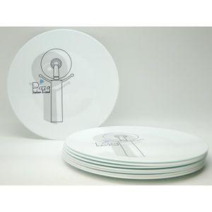 PLAT DE SERVICE Assiette - plat à Pizza design Cutter - 33 cm