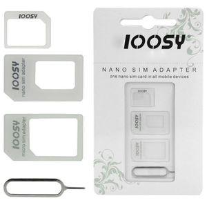 ADAPTATEUR CARTE SIM Kit 3 en 1 adaptateur Nano Sim + Micro Sim vers Si