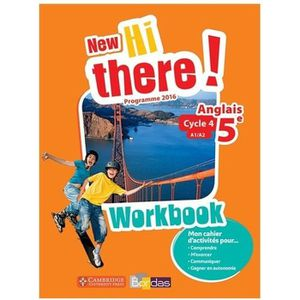 AUTRES LIVRES New Hi there ! anglais 5e, cycle 4, A1-A2 : workbo